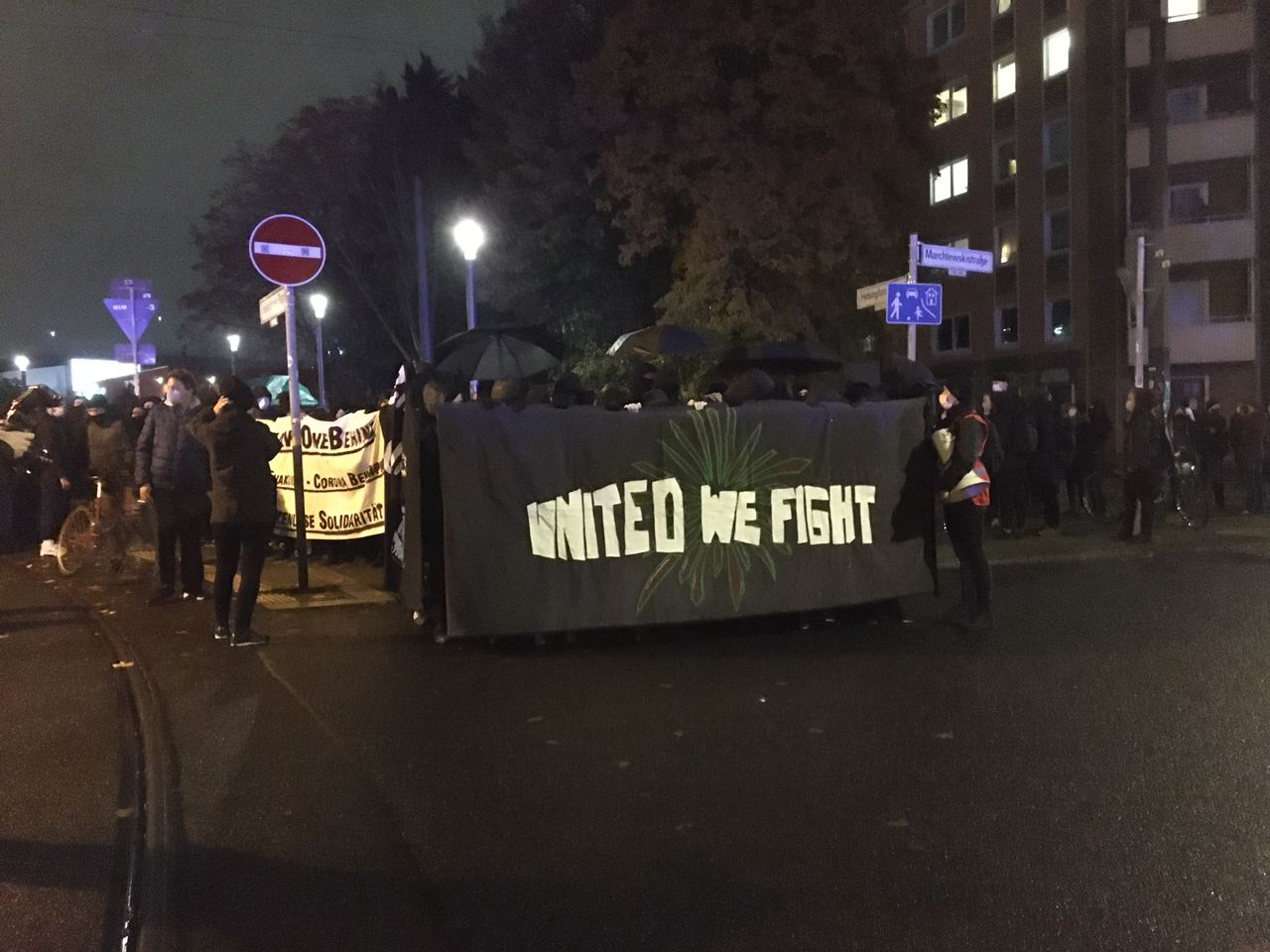 "Demonstration in Friedrichshain ""United we fight"""