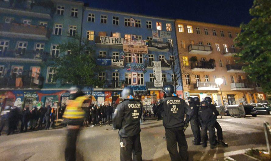 Brandschutzbegehung bei der Rigaer Straße 94